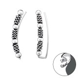 Bali - 925 Sterling Silver Cuff Earrings SD39542