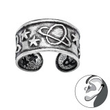 Saturn And Stars - 925 Sterling Silver Cuff Earrings SD42495