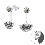 Bali - 925 Sterling Silver Ear Jackets & Double Earrings SD34450