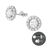 Round - 925 Sterling Silver Ear Jackets & Double Earrings SD37762