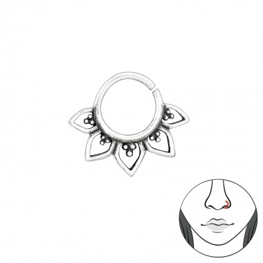 Bali - 925 Sterling Silver Nose Studs SD39069