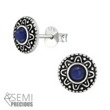 Bali - 925 Sterling Silver Semi-Precious Stud Earrings SD39194