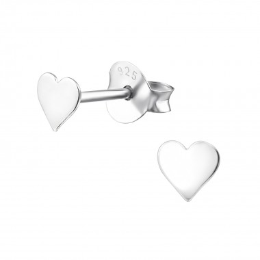 Heart - 925 Sterling Silver Simple Stud Earrings SD20621