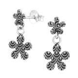 Hanging Flower - 925 Sterling Silver Simple Stud Earrings SD36623