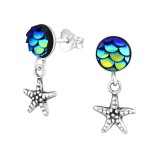 Starfish - 925 Sterling Silver Simple Stud Earrings SD37169