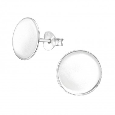 Round - 925 Sterling Silver Simple Stud Earrings SD38531