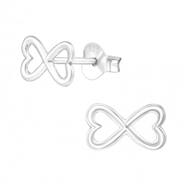 Bow - 925 Sterling Silver Simple Stud Earrings SD38575