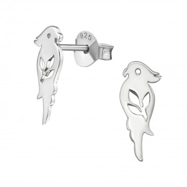 Parrot - 925 Sterling Silver Simple Stud Earrings SD38879