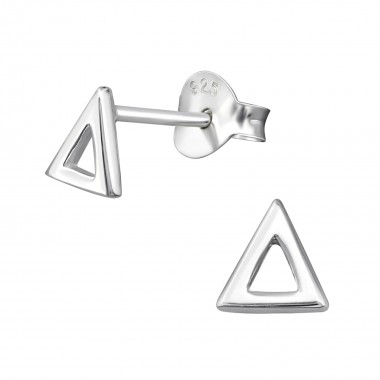 Triangle - 925 Sterling Silver Simple Stud Earrings SD38885