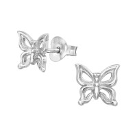 Butterfly - 925 Sterling Silver Simple Stud Earrings SD38918