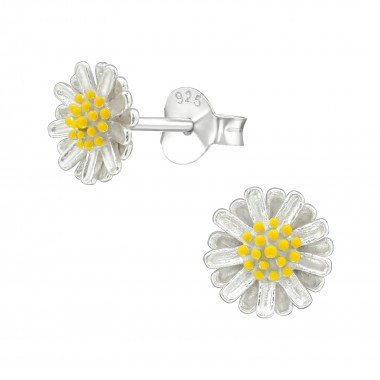 Flower - 925 Sterling Silver Simple Stud Earrings SD39017