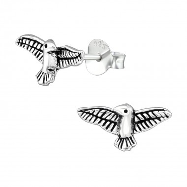 Eagle - 925 Sterling Silver Simple Stud Earrings SD39132