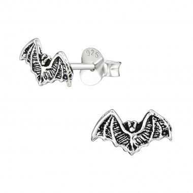 Bat - 925 Sterling Silver Simple Stud Earrings SD39135