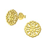 Antique - 925 Sterling Silver Simple Stud Earrings SD39341