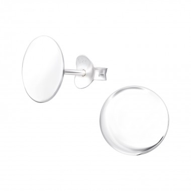 Round - 925 Sterling Silver Simple Stud Earrings SD39453