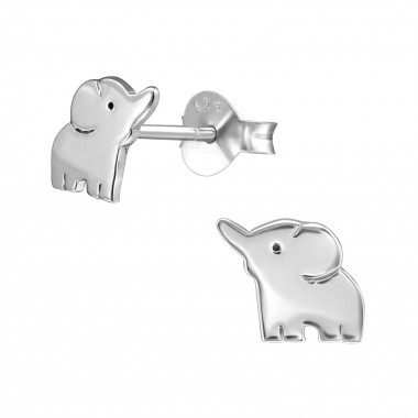 Elephant - 925 Sterling Silver Simple Stud Earrings SD39652