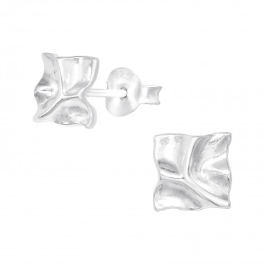 Square - 925 Sterling Silver Simple Stud Earrings SD41029