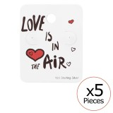 Love Is In The Air Ear Stud Cards - Paper Stud Earring Sets  SD34087