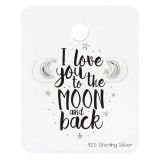 Moon Ear Studs On Lovers Cards - 925 Sterling Silver Stud Earring Sets  SD34121