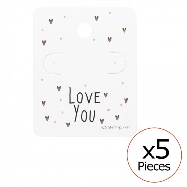 Love You Ear Studs Cards - ...