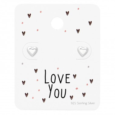 Heart Ear Studs On Love You...