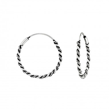 22mm - 925 Sterling Silver Bali Hoops SD39776