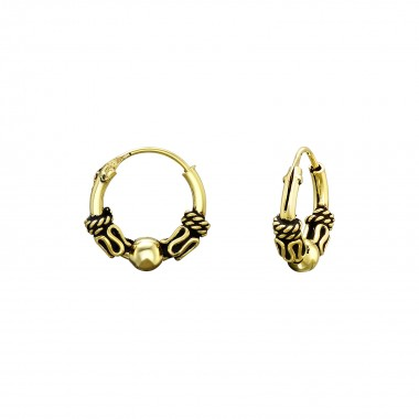 10mm - 925 Sterling Silver Bali Hoops SD40660