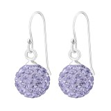 Crystal Ball - 925 Sterling Silver Earrings with Crystal SD12601