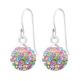 Crystal Ball - 925 Sterling Silver Earrings with Crystal SD12995