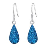 Drop - 925 Sterling Silver Earrings with Crystal SD14743