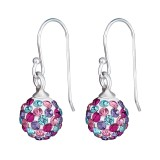 Crystal Ball - 925 Sterling Silver Earrings with Crystal SD16181