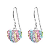 Heart - 925 Sterling Silver Earrings with Crystal SD22304