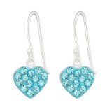 Heart - 925 Sterling Silver Earrings with Crystal SD23927