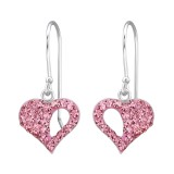 Heart - 925 Sterling Silver Earrings with Crystal SD26529