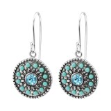 Mosaic - 925 Sterling Silver Earrings with Crystal SD28215
