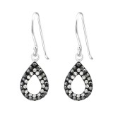 Teardrop - 925 Sterling Silver Earrings with Crystal SD35062