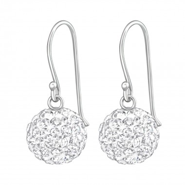 Crystal Ball - 925 Sterling Silver Earrings with Crystal SD36907