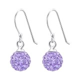 Crystal Ball - 925 Sterling Silver Earrings with Crystal SD6675