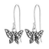 Butterfly - 925 Sterling Silver Earrings with CZ SD36811