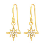 Northern Star - 925 Sterling Silver Earrings with CZ SD41990