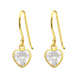 Heart - 925 Sterling Silver Earrings with CZ SD42070