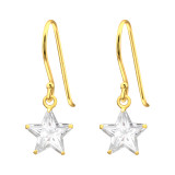Star - 925 Sterling Silver Earrings with CZ SD42073