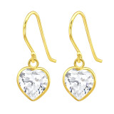 Heart - 925 Sterling Silver Earrings with CZ SD42074
