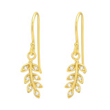 Leaves - 925 Sterling Silver Earrings with CZ SD42075