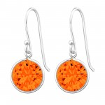 Round - 925 Sterling Silver Earrings with CZ SD659