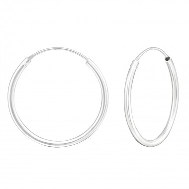 30mm endless - 925 Sterling Silver Hoop Earrings SD1716