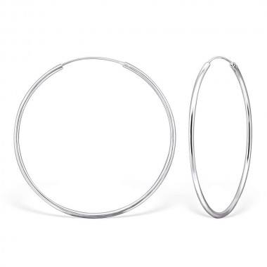 60mm endless - 925 Sterling Silver Hoop Earrings SD274