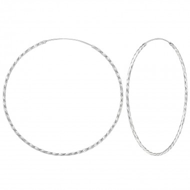 80mm endless - 925 Sterling Silver Hoop Earrings SD278
