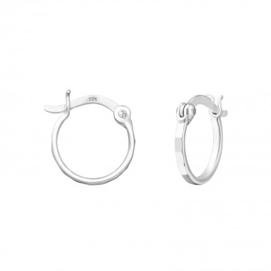 12mm - 925 Sterling Silver Hoop Earrings SD37268