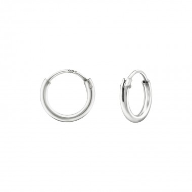 8 mm - 925 Sterling Silver Hoop Earrings SD38382
